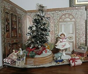 Miniature doll Setting From Russia.Living Room/library