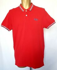 Superdry London Fit Twin Tipped polo Shirt Red/ White / Blue Size M