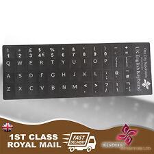 ENGLISH STANDARD UK £  @ KEYBOARD STICKERS SUPER DURABLE -NON FADE GUARANTEE