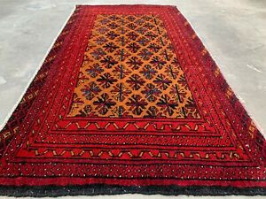 New Hand Knotted Afghan Balouch Wool Area Rug 4 x 2 FT (629 HM)