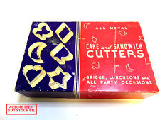 Vintage Cake and Sandwich Cutters - All Metal.