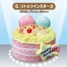 Re-Ment Miniature Sanrio Hello Kitty Birthday Cake Set # 3 Little Twin Stars
