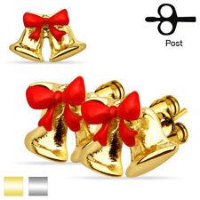 Orecchini di bigiotteria bottoni d'oro in acciaio