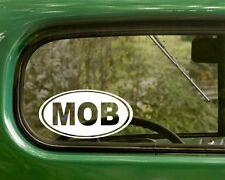 2 MOB MAFIA DECALs Decal Oval Sticker Gangster Bumper Car Truck Laptop Window