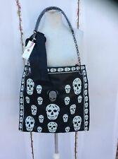 Goth/Gothic Large Black Skull Printed Tote Handbag - BNWT