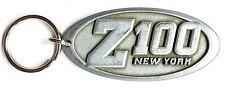 RARE VINTAGE Z100 NEW YORK RADIO STATION METAL KEY FOB 100.3 TODAY'S BEST MUSIC!