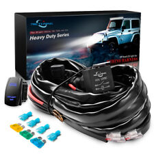 12FT HD+ 600W LED LIGHT BAR Wire Harness Kit 60A Relay Blue Switch 12Gauge 2Lead