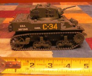 "VINTAGE UNIMAX #SFC158 WWII US ARMY TOY TANK-6"" DIE CAST & PLASTIC"