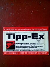 VINTAGE TIPP- EX CORRECTION PAPER 10 STRIPS TIPPEX 1 PACKET WHITE SHEETS