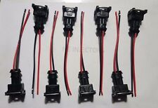 EV1 Fuel Injector Quick Disconnect Pigtails Set of 8 Ford Bosch DSM Siemens Deka