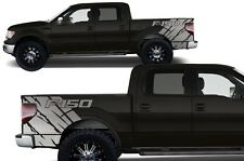 Vinyl Graphics Decal Wrap Kit for 2009-2014 Ford F-150 Truck Rear Quarter SILVER