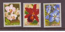 Belgium MNH 1985 Orchids Flowers set  mint  stamps