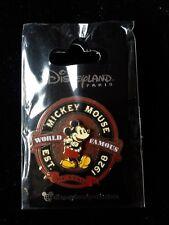 Pins Disney Dlp Paris Pin Mickey Mouse World Famous Est 1928 Classic