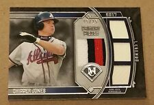 2017 Topps Museum Collection Chipper Jones Primary Pieces Quad Relic 15/25