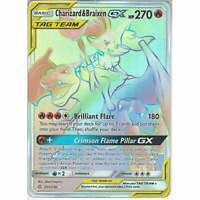 251/236 Charizard & Braixen TAG TEAM GX Rare Rainbow Card Cosmic Eclipse Pokemon