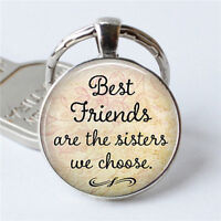 '' Best Friends Are The Sisters We Choose '' Friendship Creative Key Chain