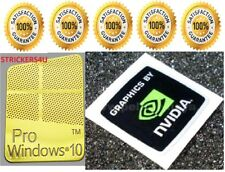 1 x Pr0 Window 10 Gold Logo Sticker Decals & Free New Nvidia Laptop & Desktop.