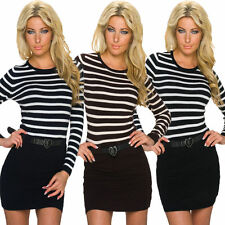 Viscose Wiggle, Pencil Striped Dresses for Women