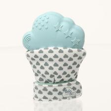 Belo Guante | para bebés para la dentición 3-12 meses | dentición guante en azul | Reino Unido marca
