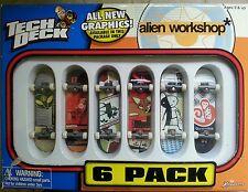 Tech Deck Alien Workshop Graphics Six 6 Pack Finger Boards New Sealed 2000