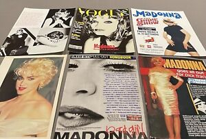 50 MADONNA CLIPPINGS - VINTAGE & RECENT
