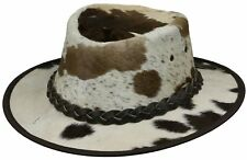 Australian leather hat - RUSTLER cowboy hairy real leather westren