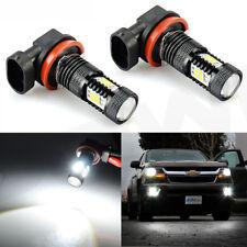 JDM ASTAR 2x H11 6000K White SMD Auto LED Bulbs For Car Truck Fog Light Lamp DRL