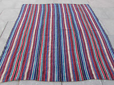 Old Tribal Nomadic Hand Made Persian Oriental Blue Wool Jajim Kilim 230x207cm