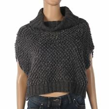 Wool Patternless Cropped Jumpers & Cardigans for Women