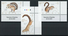 More details for namibia wild animals stamps 2020 mnh squirrels tree squirrel 3v set + selvedge b
