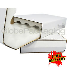 "5 x LARGE STRONG SHELL AND SLIDE THICK FOAM LINED BOXES 360x280x50mm (14x11x2"")"