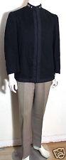 Cincinnati Regalia vintage black wool nehru collar cadet jacket