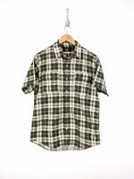 Ralph Lauren Double RL RRL Button Up Shirt Men Medium Green Gray Check Plaid