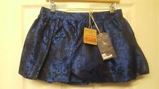 JACK WILLS FITTER SAPHIRE BLUE FLORAL PURESILK FLAIR SKIRT SIZE 8 NEW RRP £98.00