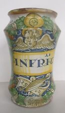 ITALIAN MAJOLICA ALBARELLO DATED 1562 FROM DERUTA. A RARE ANTIQUE PHARMACY JAR