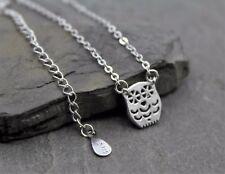 Halskette Kette Anhänger 925 Sterling Silber Eule Filigran Schmuck Geschenk NEU