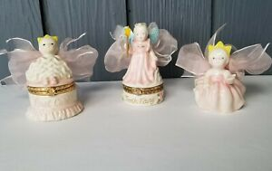 Pink Princess Trinket Boxes Baby Girl FIRST CURL, TOOTH FAIRY, FIGURINE Mud Pie