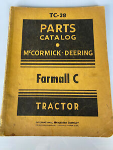 1948 Farmall C Mccormick Deering Parts Manual Original international harvester
