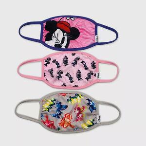 Disney Kids 3pk 3 Pack Minnie Mouse Face Mask Children Children 6+