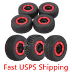 4Pcs 1/10 RC Car Short Course Truck Tire w Wheel Rim for Traxxas SLASH 3 treads