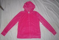 NWT Womens EVERLAST Hot Pink Velour Hoodie Sweatshirt - size L