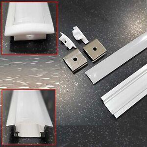 4X1M Edge Alloy channel Aluminium bar Led Strip Light Cabinet Kitchen Bathroom
