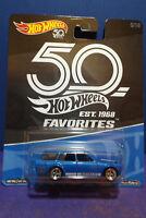 Hot Wheels 2018 50th Favorites '71 DATSUN BLUEBIRD 510 WAGON 5/10. Long card.