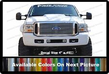 "PowerStroke Turbo Diesel Front Windshield Banner Decal Fits Ford Trucks 4"" x 45"""