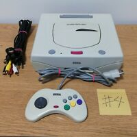 Sega Saturn White tested  controller AV cable Power Code JAPAN FedEx DHL #4