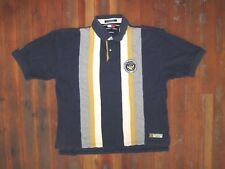TOMMY HILFIGER Blue/Yellow Collared POLO SHIRT Rugged Rugby Sz Men's XXL