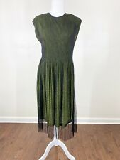 clotheshead women's size large dress black green sparkly layered 4320120