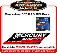 Mercury Mercruiser 502 MAG MPI  Reproduction Manifold Decal   magnum