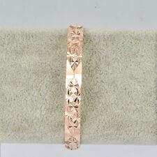 Korean Jewelry Rose Gold Filled Wide Bangle Bracelet Unique Classic