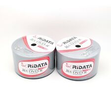 100 Ridata 16x White Top Blank DVD-R DVDR Disc Media